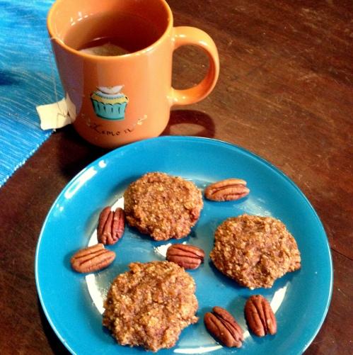 Pumpkin Almond Pecan Cookies