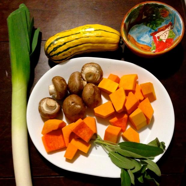 Squash, Mushroom, & Sage Risotto