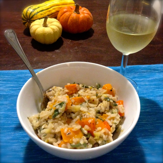 Squash, Mushroom, & Sage Risotto