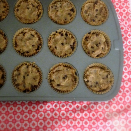 Banana Chai Muffins with Chocolate Chips