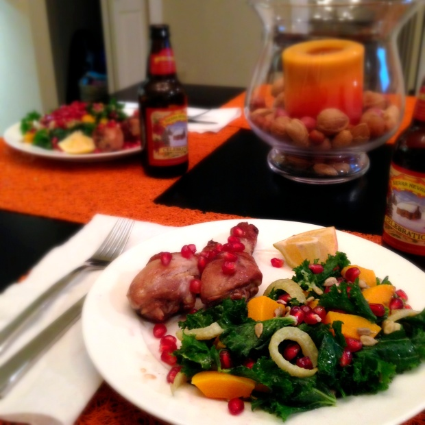 Pomegranate Kale Salad - Cloud Thyme
