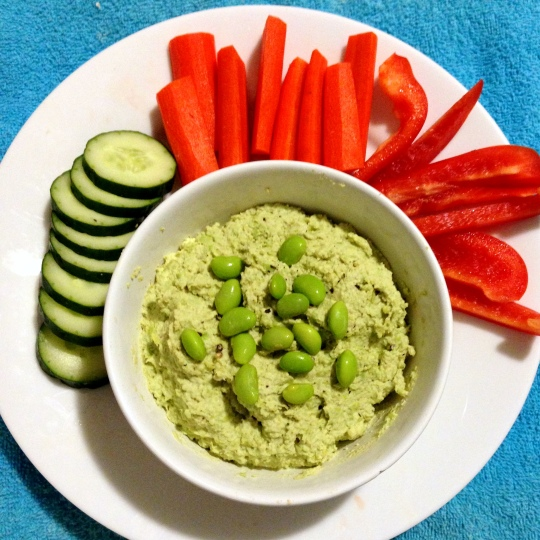 Ginger-Lime Edamame Dip - www.cloudthyme.com