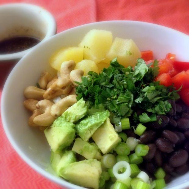 Vegan Caribbean bowl - www.cloudthyme.com