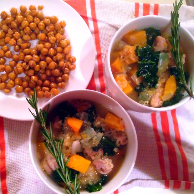 Chicken Quinoa Stew with Butternut Squash and Kale - www.cloudthyme.com
