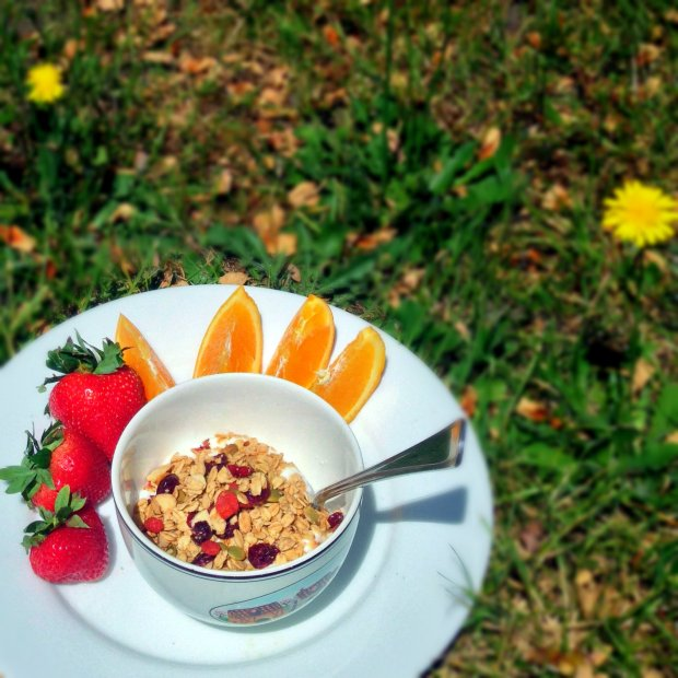 Maple Granola with Nuts, Seeds, Coconut, and Berries - www.cloudthyme.com