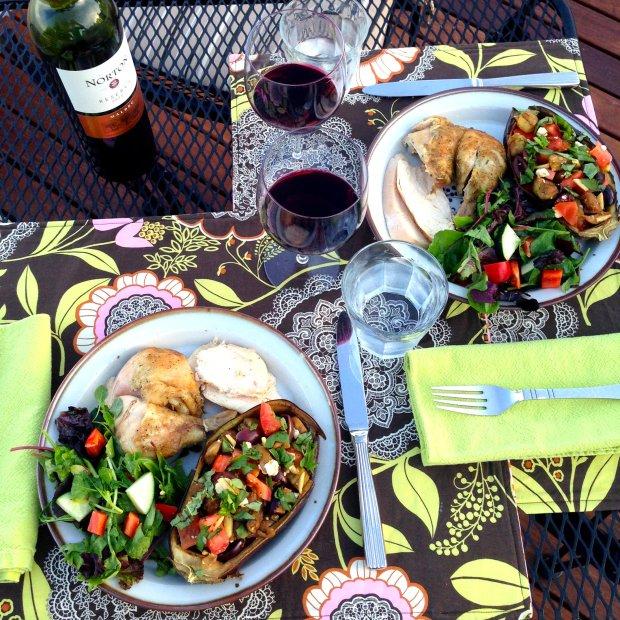 Mediterranean Stuffed Eggplant - www.cloudthyme.com