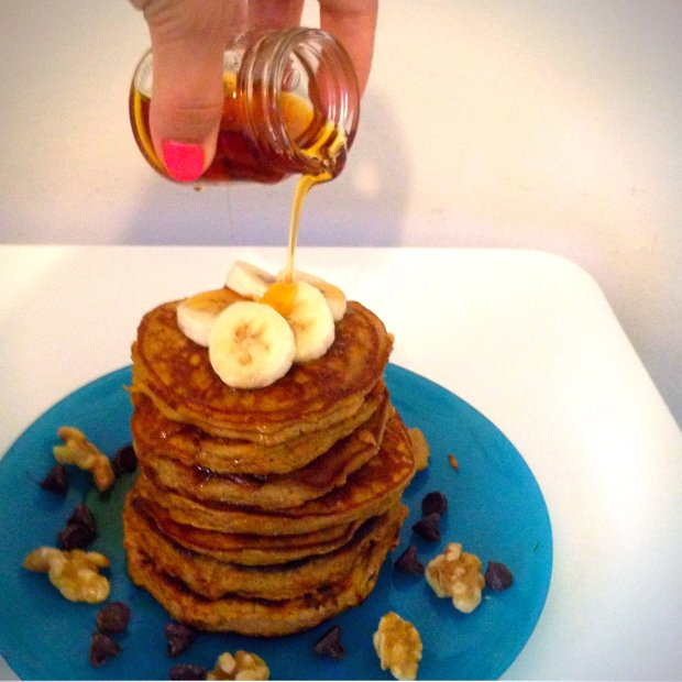 Pumpkin Coconut Pancakes (GF, DF) - www.cloudthyme.com
