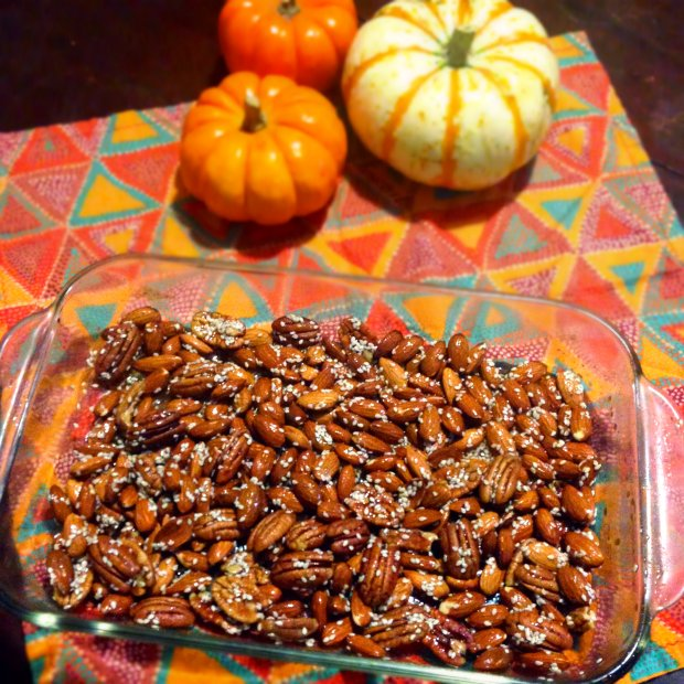 Maple, Sesame, Pumpkin-Spiced Roasted Nuts - www.cloudthyme.com