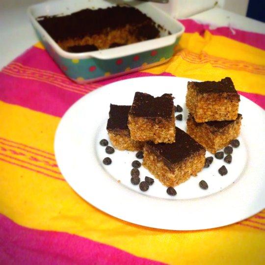 Peanut Butter Chocolate Rice Crispy Treats - www.cloudthyme.com
