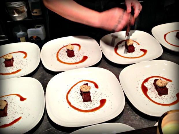 dessert making