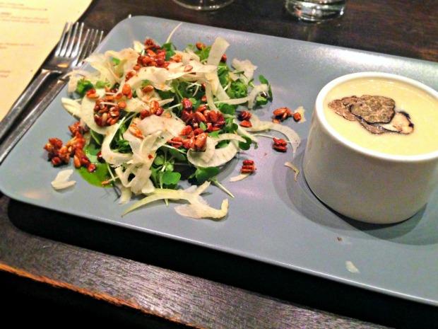 salad soup closeup