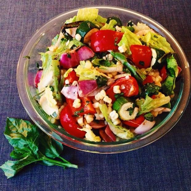 Grilled Veggie Salad - www.cloudthyme.com