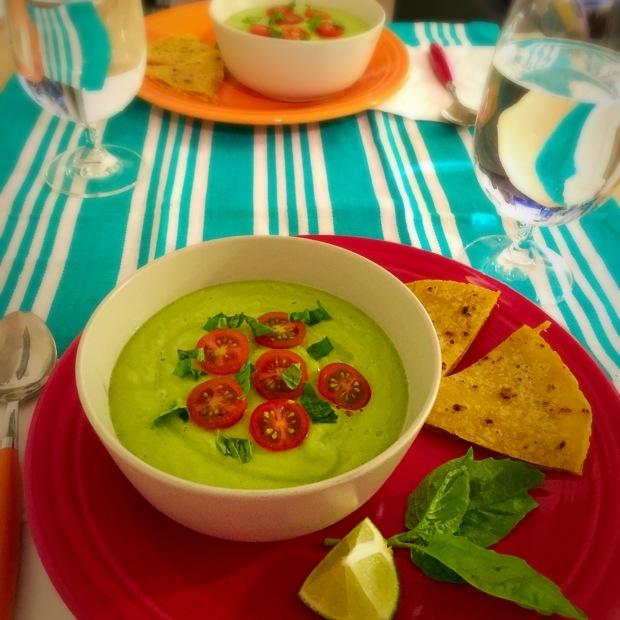 Avocado Gazpacho - www.cloudthyme.com