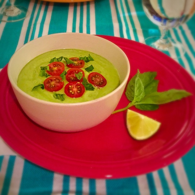 Avocado Gazpacho - www.cloudthyme.com