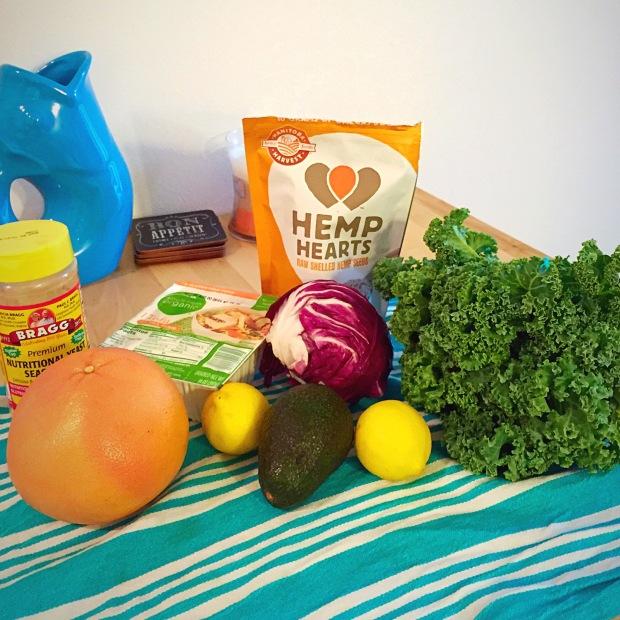 Hemp Heart Kale Salad - www.cloudthyme.com