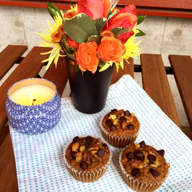 Pumpkin Banana Nut Muffins - www.cloudthyme.com